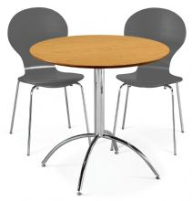 Kimberley Dining Set Natural Table & 2 Slate Grey Chairs 1/2 Price Deal